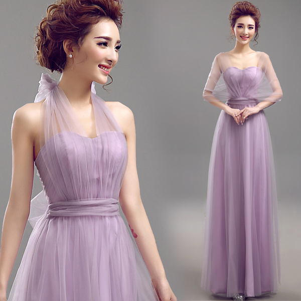 Hairstyle For Wedding Party Guest: Gauze Bridesmaid Dress DIY Styles Wedding Party Guest
