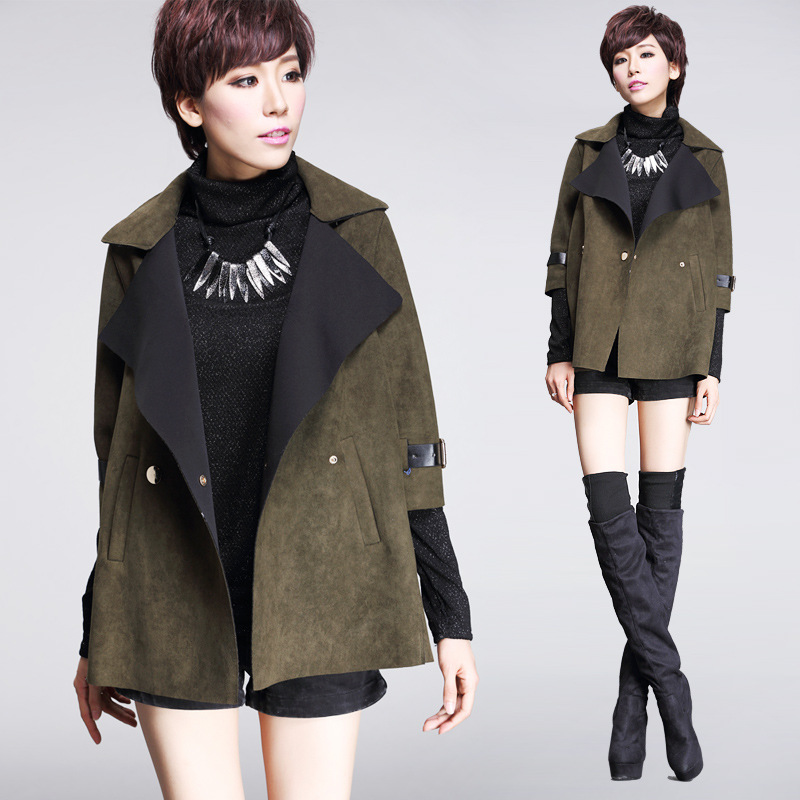 New Fashion Women Autumn Winter Trench Coat Jacket Unique Design ...
