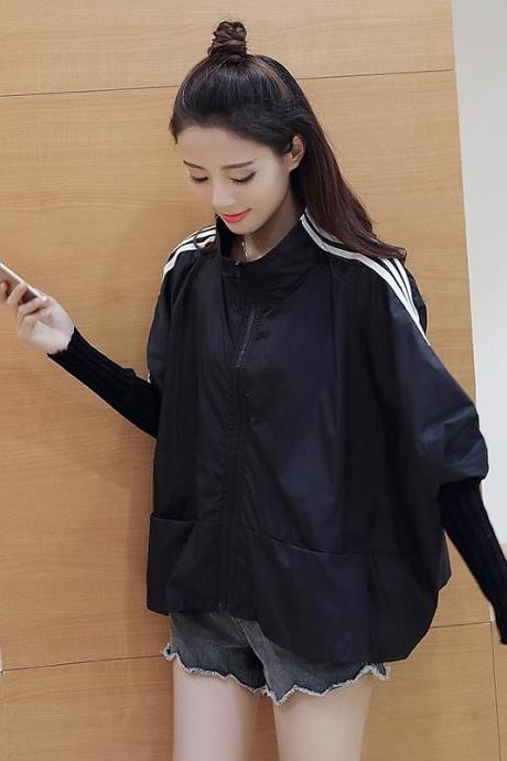 Spring Loose Black Jacket CJ1